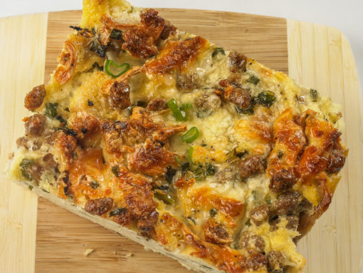 gourmet-sausage-bread-pudding-by-lavender-and-mustard